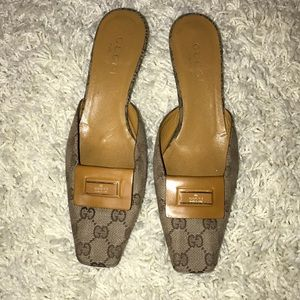 Gucci backless low heels